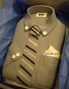 I want to show you here exceptional and great pastries Beautiful Cakes, Amazing Cakes, Papa Tag, Shirt Cake, Dress Shirt, Dad Cake, Fathers Day Cake, Different Cakes, Cakes For Men