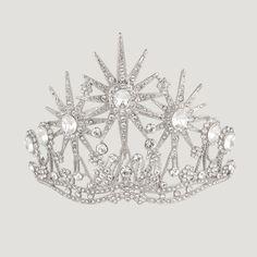 Crystal Three Tall Star Tiara Hair Comb