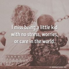 I miss being a little kid with no stress, worries or care in the world. Short Instagram Captions, Instagram Bio Quotes, Cute Captions, Picture Captions, Missing Childhood Quotes, Reality Quotes, Mood Quotes, One Word Caption, Quotes Galau