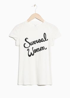 & Other Stories Surreal Women Tee in White