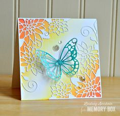 Hello friends!     I have a couple of cards to share today, that are on other blogs. This one is up on the Memory Box blog today, showcasin...