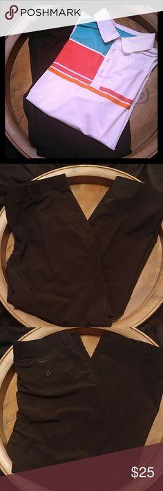 SLAZENGER BLACK WINDBREAKER GOLF PANTS SLAZENGER BLACK WINDBREAKER GOLF PANTS. In great condition; pilling inside waistband from wear in last photo but not noticeable when wearing. Size 38WX30L. SLAZENGER Pants