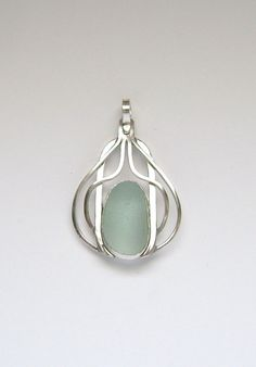 Sterling Blue Sea Glass Pendant by SignatureLine on Etsy #sea glass beads #sea charms: http://www.ecrafty.com/c-780-sea-glass-beads.aspx?pagenum=1===newarrivals=60