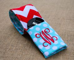 Chevron camera strap cover with monogrammed by LindsaysMonograms, $24.00