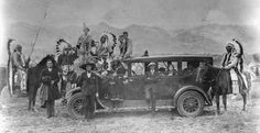 The auto is a 1926 Hudson, and native Americans are Lemhi-Shoshone. The photo is from Montana.