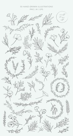 Botanical logos & illustrations by Crocus Paper on Creative Market - Botanical . - Selma Holly - Botanical logos & illustrations by Crocus Paper on Creative Market – Botanical logos & illustrat - Illustration Botanique, Illustration Blume, Medical Illustration, Creative Market, Creative Logo, Creative Design, Logo And Identity, Logo Branding, Floral Drawing