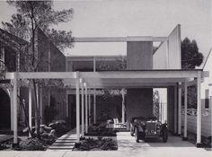 Opdahl House   Edward Killingsworth #original #atrium #entrance #parking