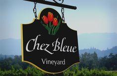 Chez Bleue Vineyard Sign / Danthonia Designs