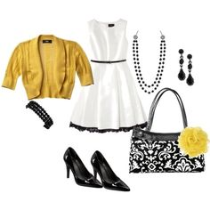 Black Parisian Pop of Yellow, created by jennipfromtn