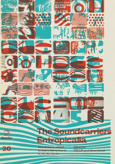 Julian House – The Souncarriers, Entropicalia, Ghost Box Records Graphic Design Posters, Graphic Design Typography, Typography Layout, Graphic Designers, Victor Moscoso, Ghost Box, Online Scrapbook, Cool Posters, Music Posters