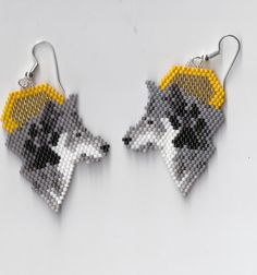 Wolf & Moon Earrings by Edithscustomcrafts on Etsy, $17.99