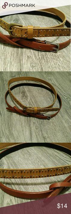 $14/OBO Set of 2 Belts EUC! Colors: cognac and light brown. Accessories Belts