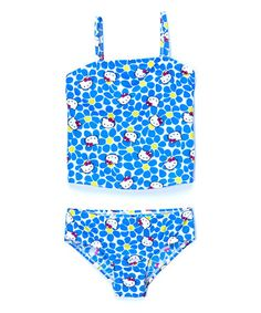 Look what I found on #zulily! Blue Daisy Hello Kitty Tankini - Toddlers & Kids #zulilyfinds
