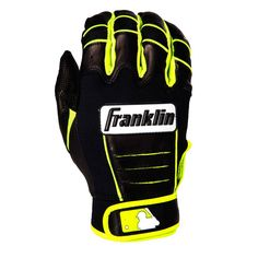 Boston Red Sox Franklin Sports Youth Franklin CFX Pro Signature Series Batting Gloves - Black/Yellow - $35.99