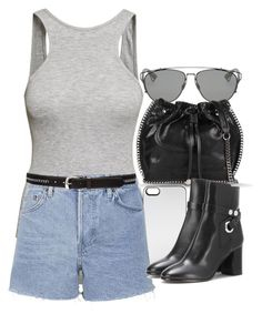 """""""Untitled #11143"""" by minimalmanhattan ❤ liked on Polyvore featuring Christian Dior, H&M, STELLA McCARTNEY, Zero Gravity, Topshop, Paige Denim and Isabel Marant"""