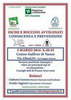 Esche avvelenate tra informazione e prevenzione: incontro pubblico a Varese :http://www.qualazampa.news/event/esche-avvelenate-tra-informazione-e-prevenzione-incontro-pubblico-a-varese/