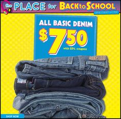 The Children's Place Jeans ONLY $7.50 + FREE SHIPPING *Wow!  http://www.frugallivingandhavingfun.com/2013/08/the-childrens-place-jeans-only-7-50-free-shipping-wow/