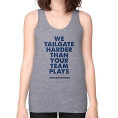 Cowboys Nation Tailgates Harder - Women's Loose Fit Muscle Tank