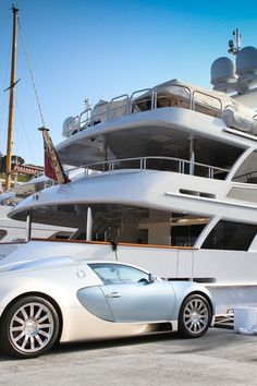 Bugatti and yacht