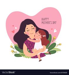 Happy mothers day card Royalty Free Vector Image You are in the right place about Mothers Day Cards Happy Mothers Day Wishes, Happy Mothers Day Images, Happy Mother Day Quotes, Happy Mother's Day Card, Mothers Day Crafts For Kids, Mothers Day Cards, Happy Day, Mothers Day Drawings, Vector Freepik