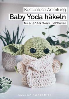 DIY Baby Yoda häkeln – kostenlose Anleitung Thanks yeahhandmade for this post. Crochet Diy, Crochet Gratis, Easy Crochet Patterns, Knitting Patterns, Nice Gifts For Boyfriend, Theme Star Wars, Diy Accessoires, Diy Baby, Free Pattern