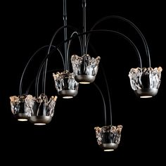 Here's another new for 2020 Hubbardton Forge beauty! It's their Splash Pendant It's an adjustable six light pendant w/glass & Vintage Platinum accents. Choose a finish for the canopy, downrods & connecting arms. Pendant Lighting, Light Pendant, Platinum Metal, Cast Glass, V60 Coffee, Timeless Beauty, Modern Contemporary, Canopy, Arms