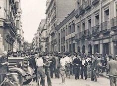 Spain - 1936. - GC - Calle de Luisa Fernanda, frente al Cuartel de la Montaña
