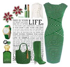 """""""Wear Green!"""" by gemique ❤ liked on Polyvore featuring Holstee, Natures Jewelry, WithChic, Pierre Hardy, Straw Studios, Clive Christian, Tata Harper and OPI"""