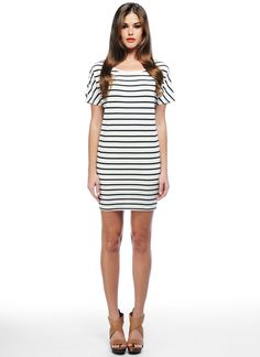 BB Dakota Dora Dress. Stripes. Sack like. I love.