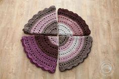 Szydełkowe dywany jako szydełkowa pizza ;)   Crocchet rugs like a crochet pizza ;) #owoceszycia