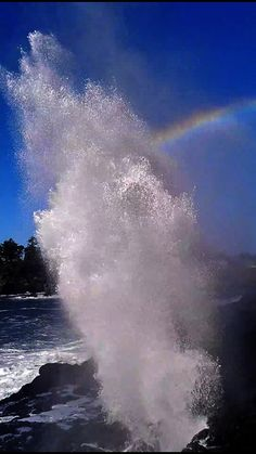 depoe-bay-spouting-horn-rainbow.wechter-adam I live in Oregon it is beautiful at Depot Bay!