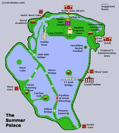 Summer Palace Map, Beijing, China
