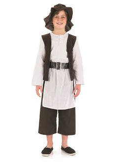 Deluxe Tudor Boy childrens dress up costume by Fun Shack