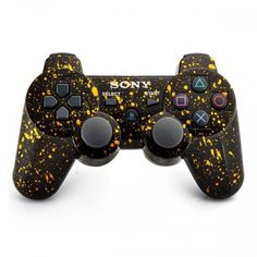 Refurbished Dual Shock 3 Wireless Controller for PlayStation 3 (Place snowflake Yellow)