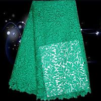 GS37-4 green,African water soluble lace fabric,free shipping cotton cord lace cloth for dress,beautiful guipure lace fabric