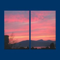 Spectacular sunset from my window looking towards English Bay, Vancouver, BC, Canada/  Wrapped canvas print.