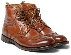 Anatomia Leather Brogue Boots.