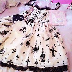 dress, pastel goth, and kawaii image Estilo Goth Pastel, Pastel Goth Outfits, Pastel Goth Fashion, Gothic Outfits, Kawaii Fashion, Lolita Fashion, Pastel Goth Style, Pastel Goth Clothes, Pretty Outfits