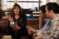 "#NewGirl 4x19 ""The Right Thing"" - Schmidt's mom Louise (guest star, Nora Dunn) has advice for Schmidt and Nick."