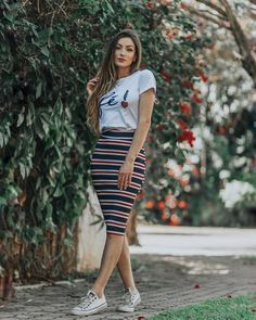 Basic Outfits, Casual Summer Outfits, Cool Outfits, Modest Fashion, Skirt Fashion, Fashion Outfits, Fashion Fashion, Fashion Trends, Indian Gowns Dresses