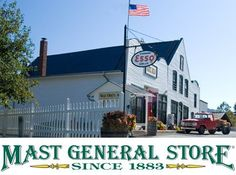 Valle Crucis, NC.  I love to go to the Mast General Store in this gorgeous part of NC!
