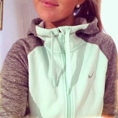 nike mint+grey jacket