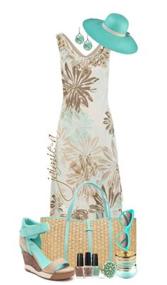 """Printed Chiffon Long Dress"" by jaimie-a ❤ liked on Polyvore"