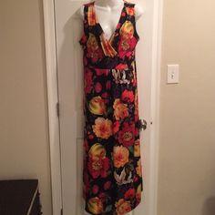 Slinky brand maxi dress. Like new. 95%poly/5% spandex. Dresses Maxi
