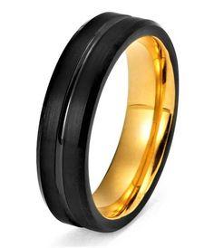 36 Best Yellow Gold Tungsten Images Tungsten Wedding Bands