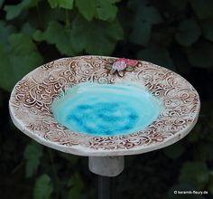 Keramik Vogeltränke Vogelbad