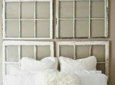 Repurposed Windows as headboard