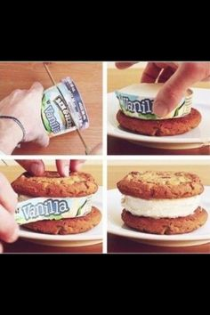 ice cream cookie sandwiches - brilliant!