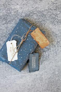 Christmas metallic gift tags.