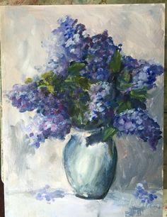 'Lilacs for Jillian' acrylic ~bar